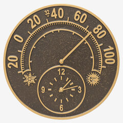 Solstice Thermometer Clock,