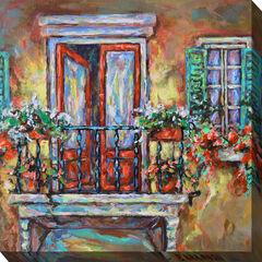 Blooming Balcony Wall Art,