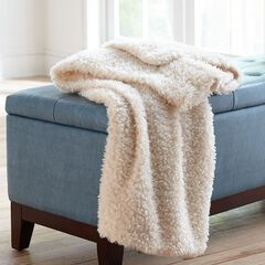 Olie Faux Shearling Throw,