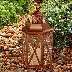 Antique Finish Bird-Top Lantern,