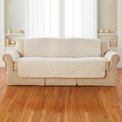 Striped Sofa Protector, NATURAL