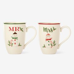 "Lenox® Hosting The Holidays""¢ Set of 2 Mr. & Mrs. Mug Set,"