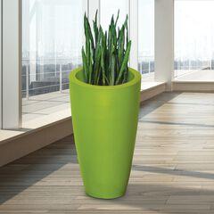 """Modesto 42"""" Tall Planter, GREEN"""