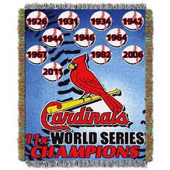 Cardinals Commemorative Series Throw,