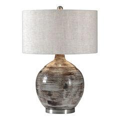 Tamula Distressed Ivory Table Lamp,