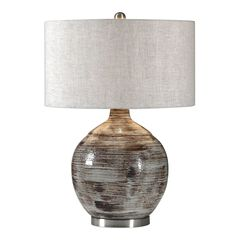 Tamula Distressed Ivory Table Lamp,