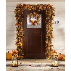 9' Harvest Wheat Garland, MULTI