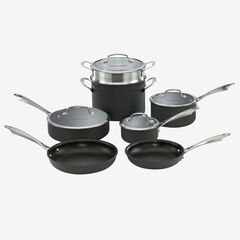 Cuisinart Dishwasher Safe Hard-Anodized 11-Pc. Cookware Set,
