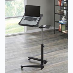 Adjustable Laptop Cart with Work Station,