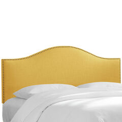 Ashland Nail Button Headboard, LINEN FRENCH YELLOW