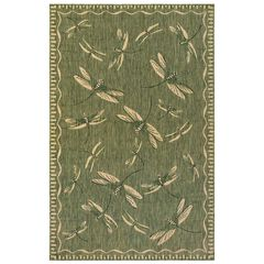 "Liora Manne Carmel Dragonfly Indoor/Outdoor Rug 23""X7'6"","