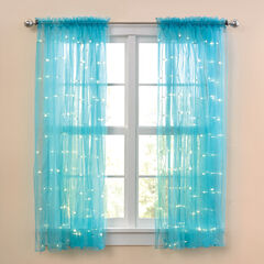 63' Pre-Lit Rod-Pocket Curtain Panel,