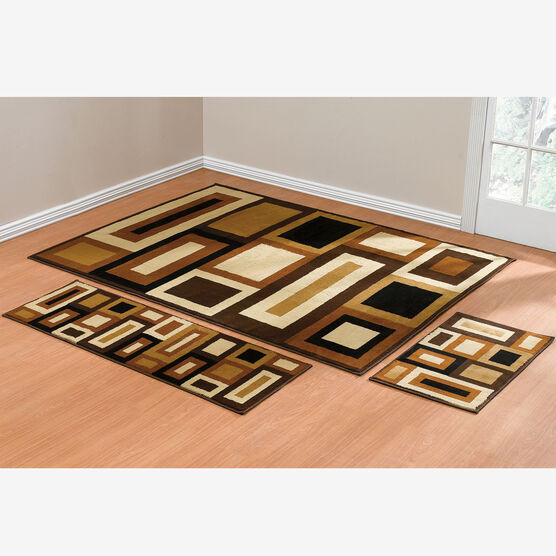 Royalty Geo 3 Pc Rug Set With Runner