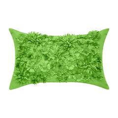 Floral Bouquet Dimensional Indoor & Outdoor Lumbar Decorative Pillow,