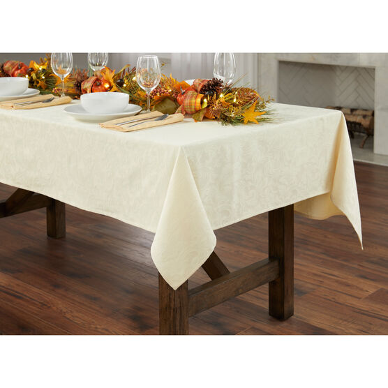 "damask 60"" x 144"" Tablecloth,"