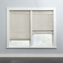 Cordless Large Fold Woven Blackout Roman Shade,