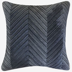 Chevron Velvet Decorative Pillow,