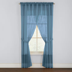 BH Studio Sheer Voile 5-Pc. One-Rod Curtain Set,