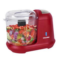 Kalorik 1.5 Cup Cordless Electric Food Chopper, Red,