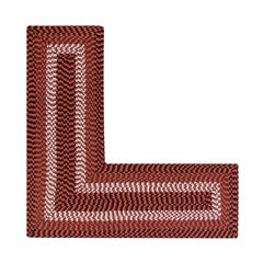 """Alpine Braid Collection Reversible Indoor Area Rug in Vibrant Colors, 24"""""""" x 48"""""""" x 48"""""""" L-Shape ,"""