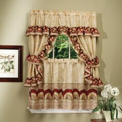 Sunflower Cottage Window Curtain Set, ANTIQUE