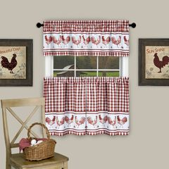 Barnyard Window Curtain Tier Pair and Valance Set,
