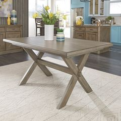 Mountain Lodge Rectangular Trestle Dining Table by Home Styles, MULTI GRAY