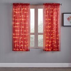 "63"" Pre-Lit Rod-Pocket Curtain Panel,"