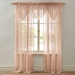 BH Studio Crushed Voile Ascot Valance, PEACH