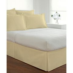 Fresh Ideas Poplin Tailored Bed Skirt, LIGHT BEIGE