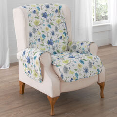 Springtime Recliner or Wing Chair Protector ,