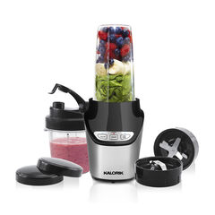 Kalorik 8-Piece Nutrition Blender Set, Black and Silver,