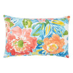 "20"" x 13"" Lumbar Pillow, POPPY BLUE"