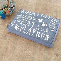 Eat Sleep Play Cotton Printed Pet Bed ,