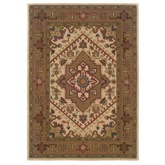 Trio Traditional Ivory Area Rug Collection,