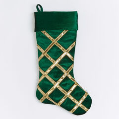 Velvet Sequin Stocking,