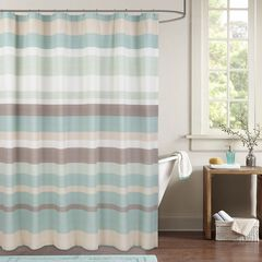 Coastal Stripe Shower Curtain,