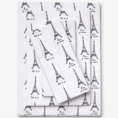 Printed Microfiber Sheet Set, PARIS