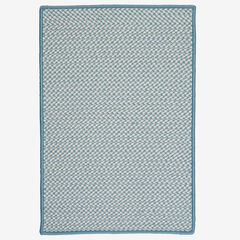 Houndstooth Twist Cloud Blue Rug, BLUE