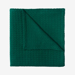 BH Studio Primrose Cotton Blanket, DEEP GREEN