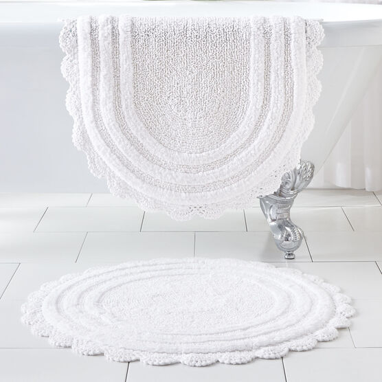 Oval Crochet Bath Rug,
