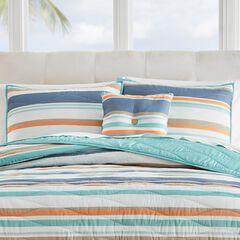 "Coastal Stripe 16""Sq. Pillow,"