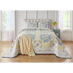 Arielle Bedspread, BLUE YELLOW MULTI