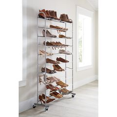 50-Pair Rolling Shoe Rack,