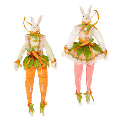 Carrot Bunny Boy & Girl Set,