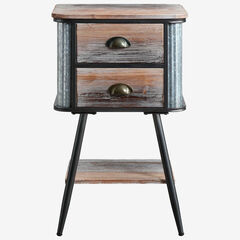 Alta Collection Side Table with Drawers,
