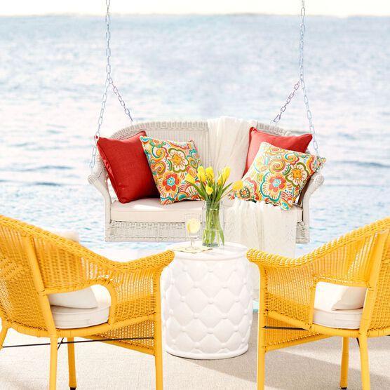 Roma Resin Wicker Porch Swing,