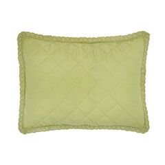Paige Diamond Lace Sham, OLIVE