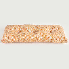 Tufted Wicker Settee Cushion, LEISURE FRESCO CLAY