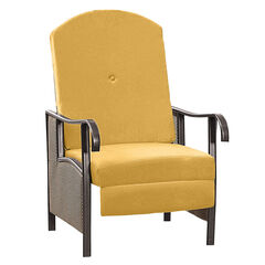Oversized Outdoor Recliner with Cushion, LEMON